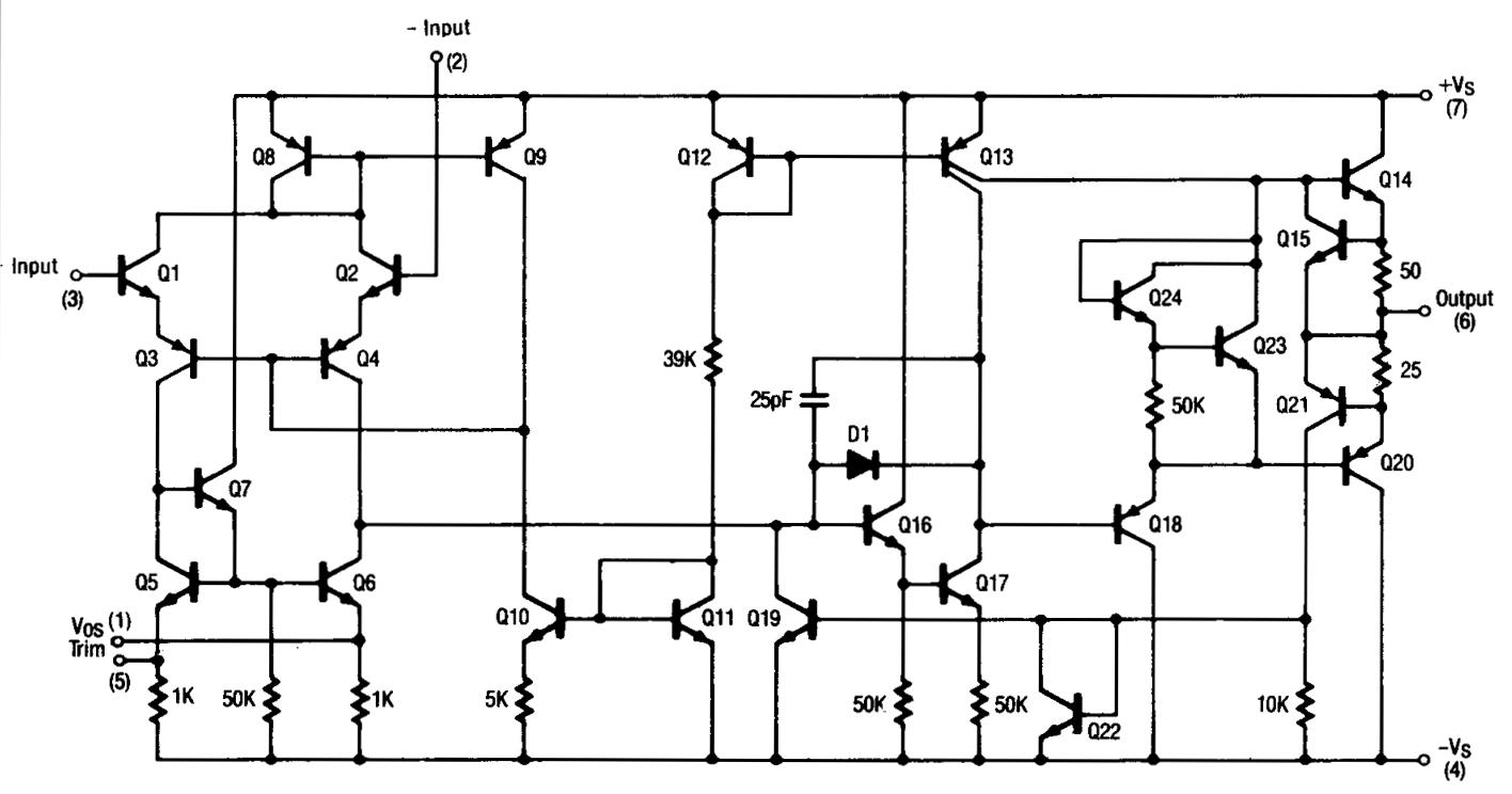 741 op amp wiring diagrams