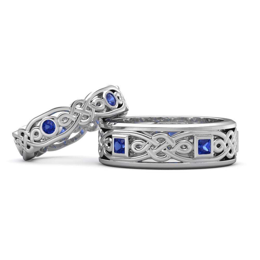 matching wedding bands claddagh wedding ring set Celtic Inspired