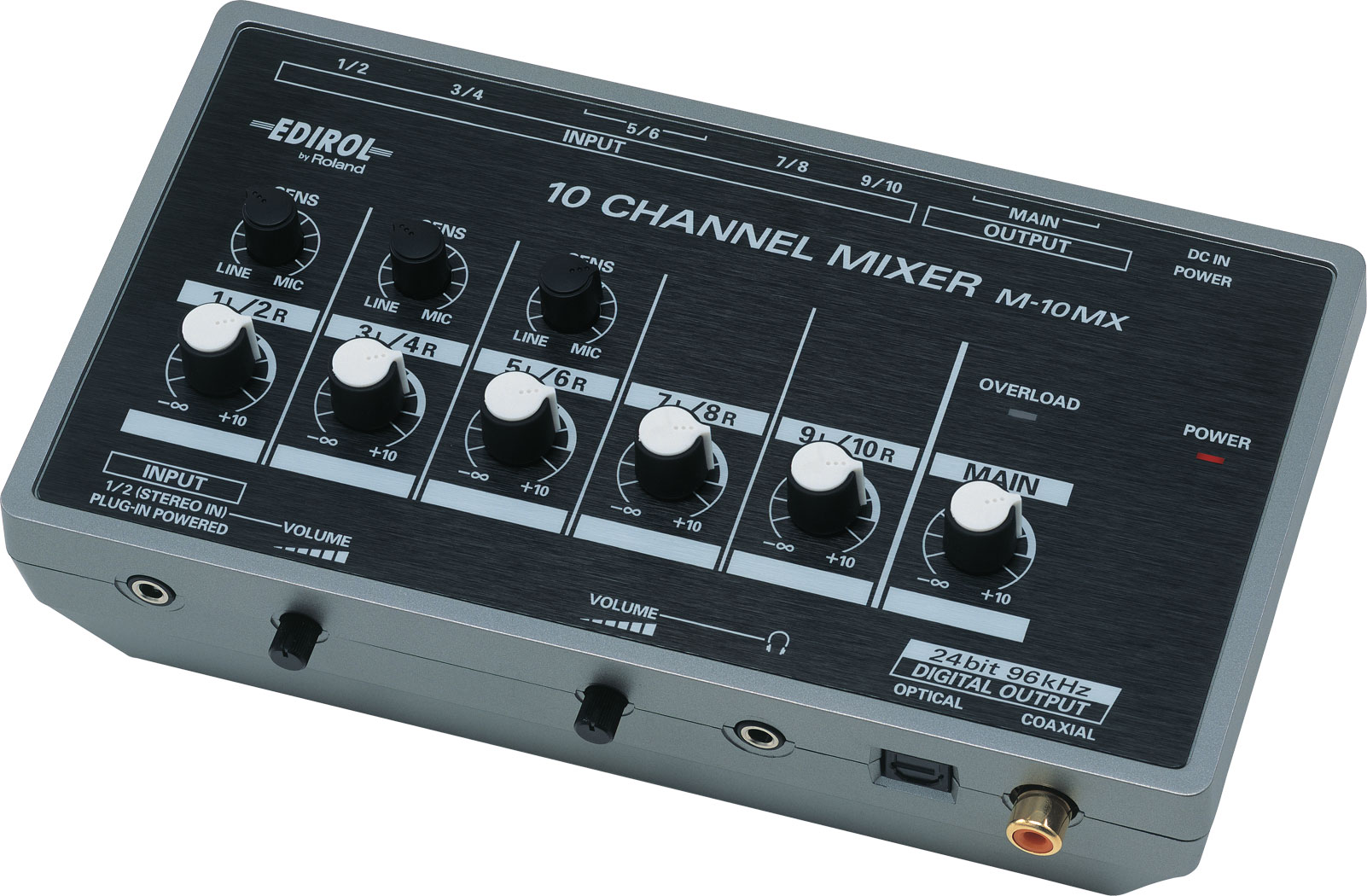 Battery Digital Roland M 10mx 10 Channel Battery Powered Mixer