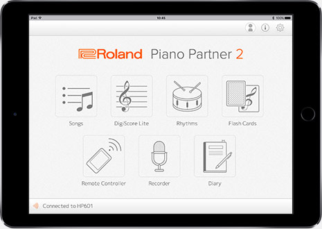 Roland - Piano Partner 2 Version 20 iOS/Android App