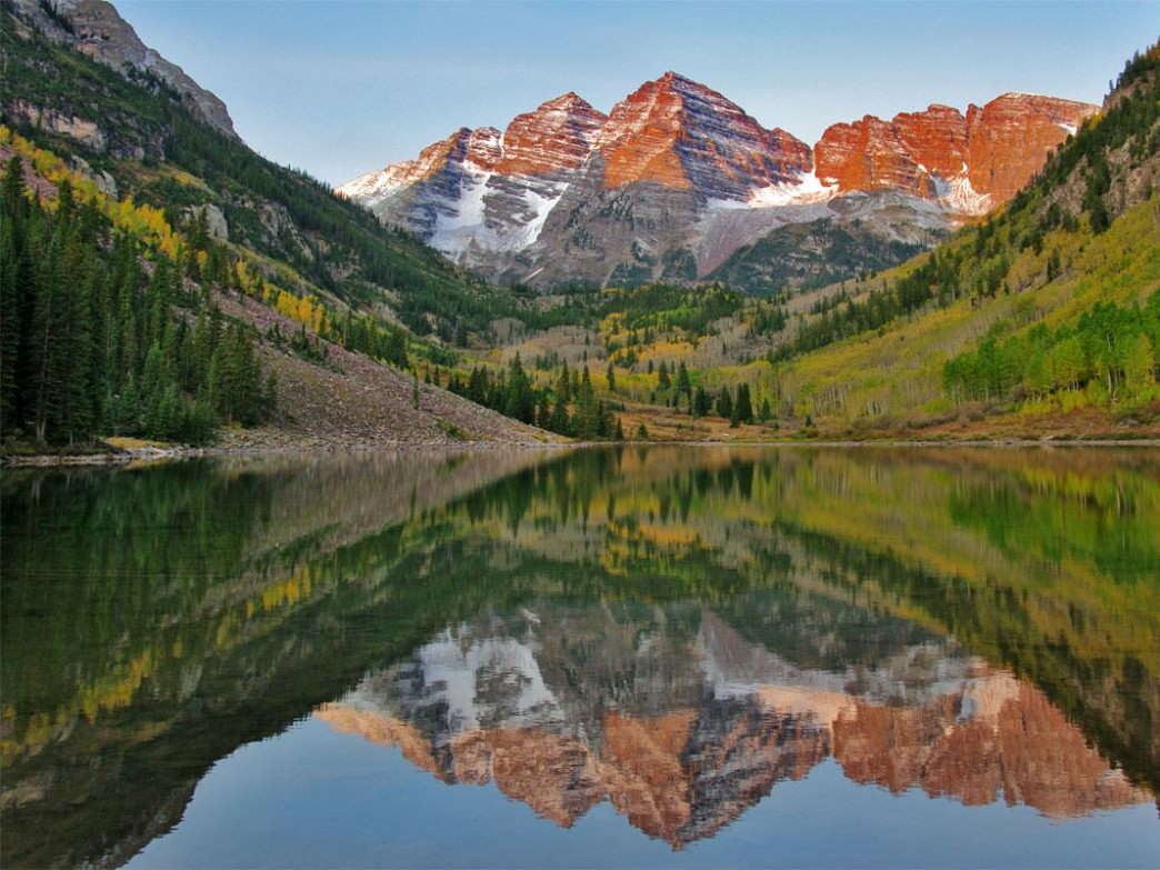 Fall Coastal Desktop Wallpaper Maroon Bells Traverse