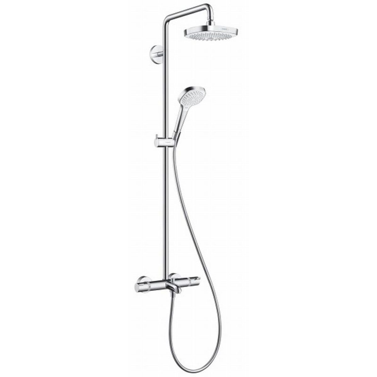 Hansgrohe Croma 2jet Hansgrohe Croma Select S 180 2jet Showerpipe Voor Bad Chroom Wit
