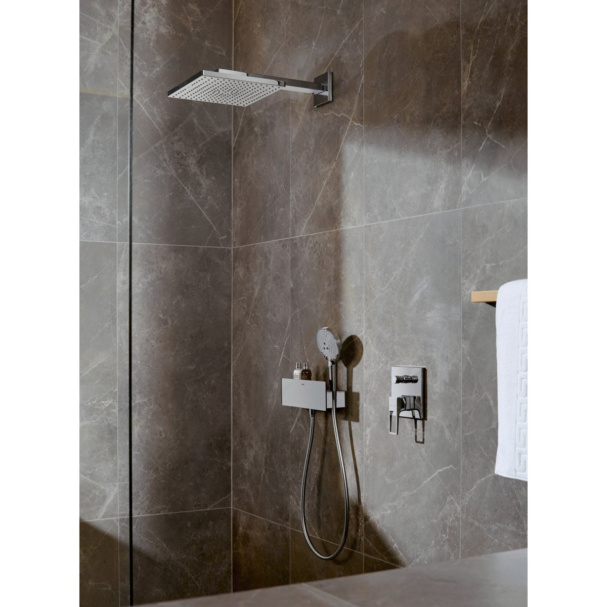 Hansgrohe Grote Badkamer Spiegel Hansgrohe Raindance E Square Hoofddouche E300 1jet M