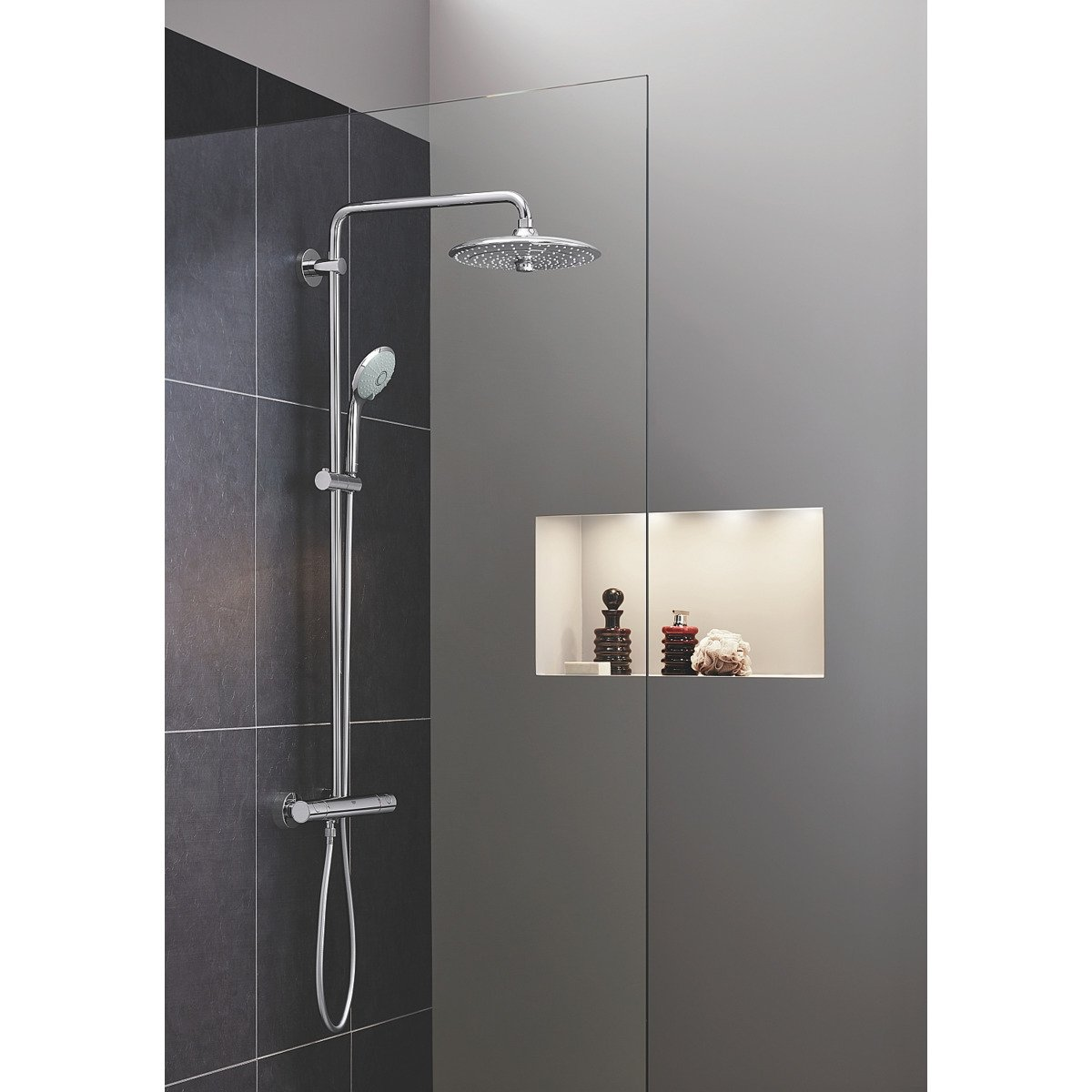 Grohe Euphoria Douchesysteem 180 Chroom Grohe Euphoria Douchesysteem Thermostatisch En Euphoria