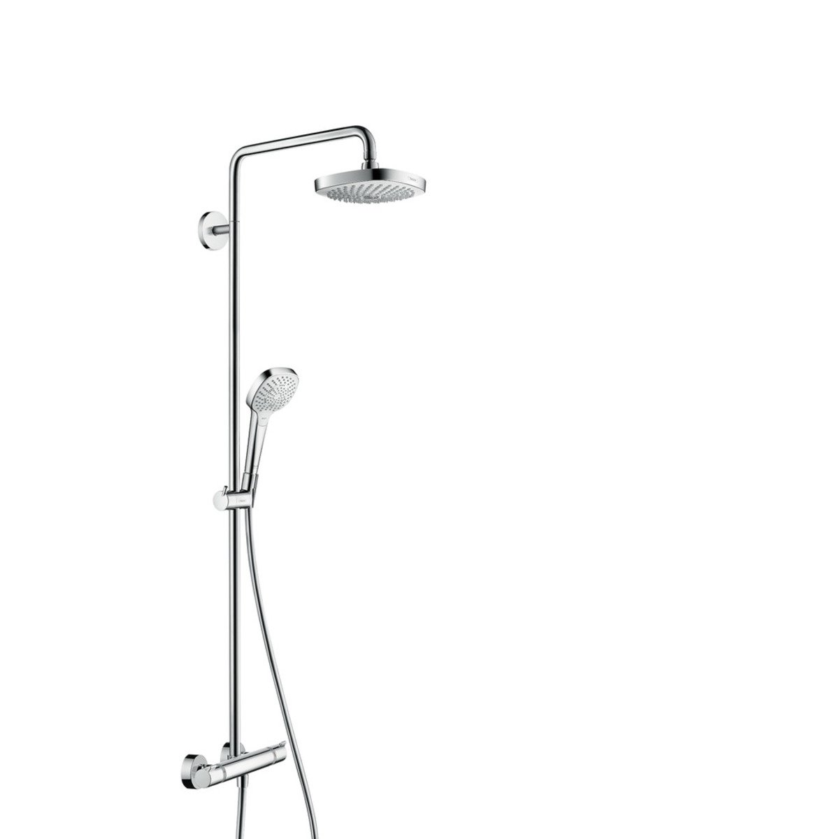 Hansgrohe Croma 2jet Hansgrohe Croma Select E 180 2jet Showerpipe Met Ecostat Comfort
