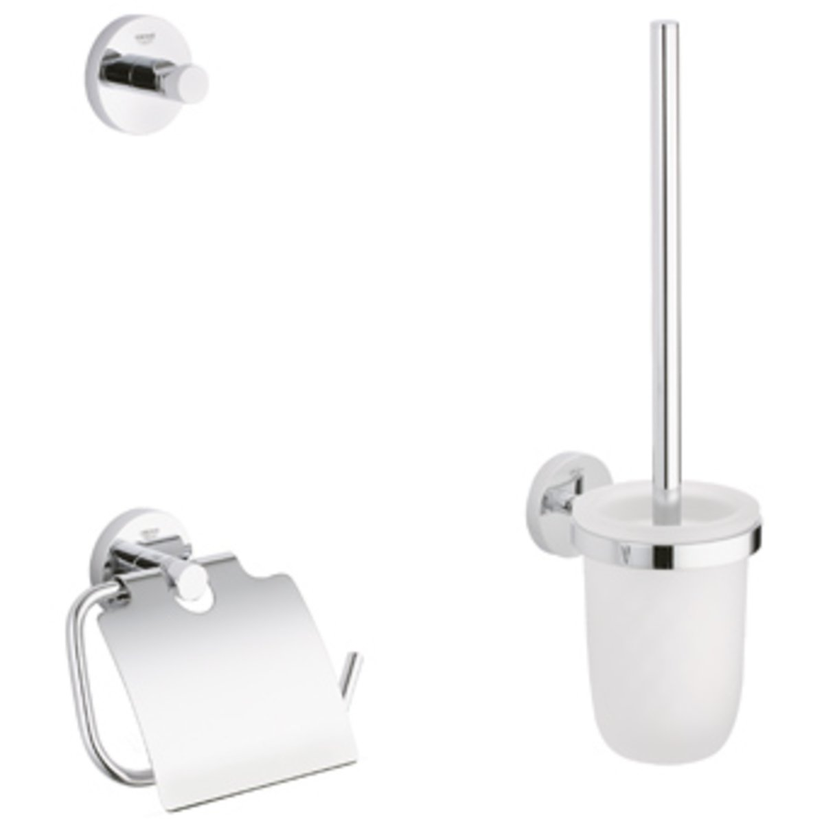 Grohe Badkamer Accessoires Set Grohe Essentials Accessoireset 3 In 1 Chroom 40407001