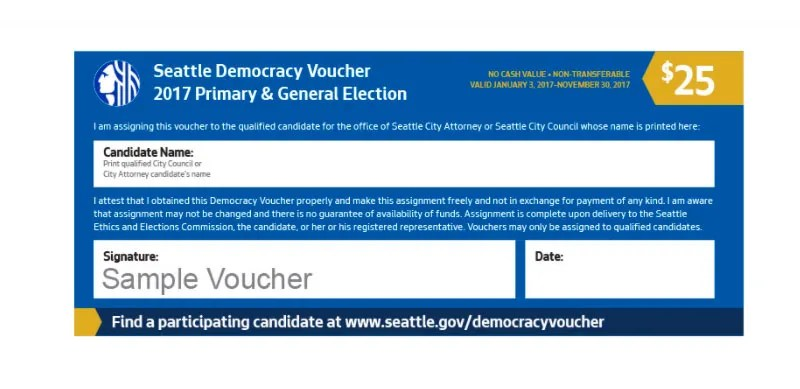 Seattle\u0027s new \u0027democracy vouchers\u0027 What they are and how to use - how to make vouchers