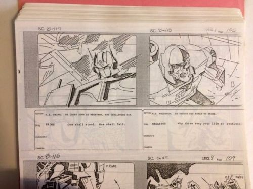 Transformers The Movie 1986 Original Storyboards Reduction Master