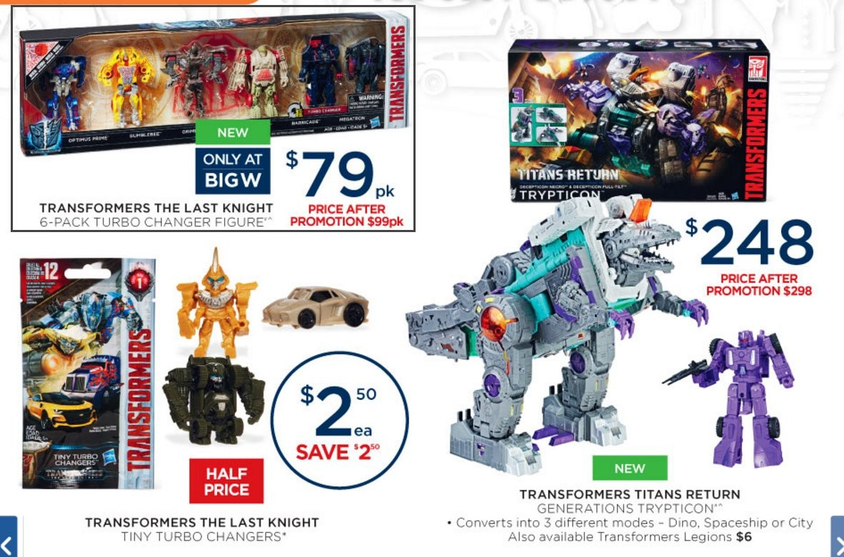 Big W Toys Catalogue Bigw Transformers Sale Catalogue Trypticon The Last Knight Rid