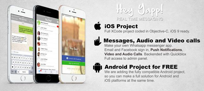 Buy Hey Yapp! WhatsApp App source code - Sell My App - free app template