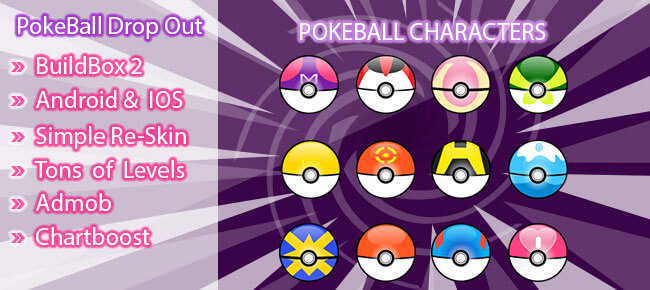 Buy Pokemon Balls Drop Out Buildbox Template - Sell My App - pokemon template