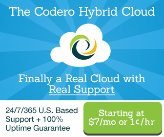 Codero Cloud Hosting Services