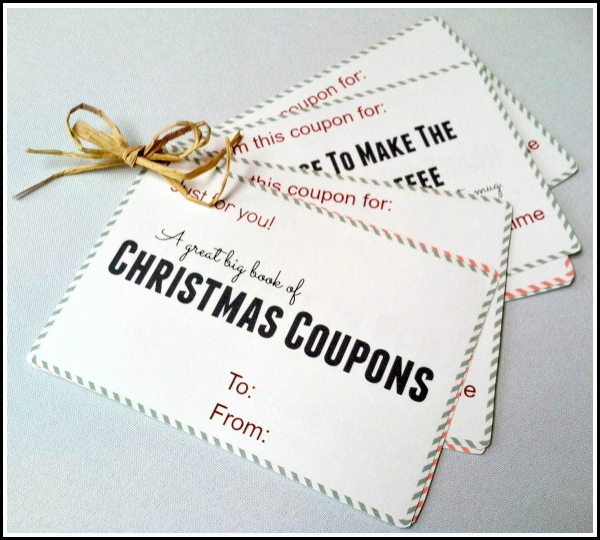 Coupon book ideas for mom christmas / Knight coupons