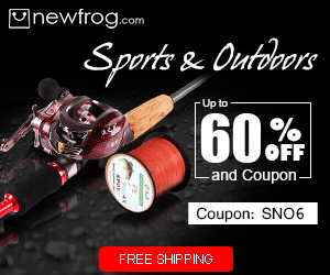 Sports & Outdoors - Up to 60% off and Coupon@Newfrog.com