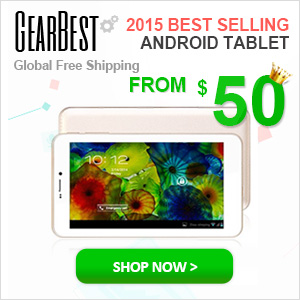 Global Free Shipping and Low to $50 for 2015 Best Android Tablets @gearbest.com