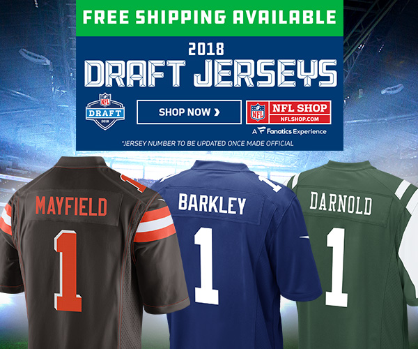 Represent your team in 2018 NFL Drafted Player Jerseys from NFLShop.com