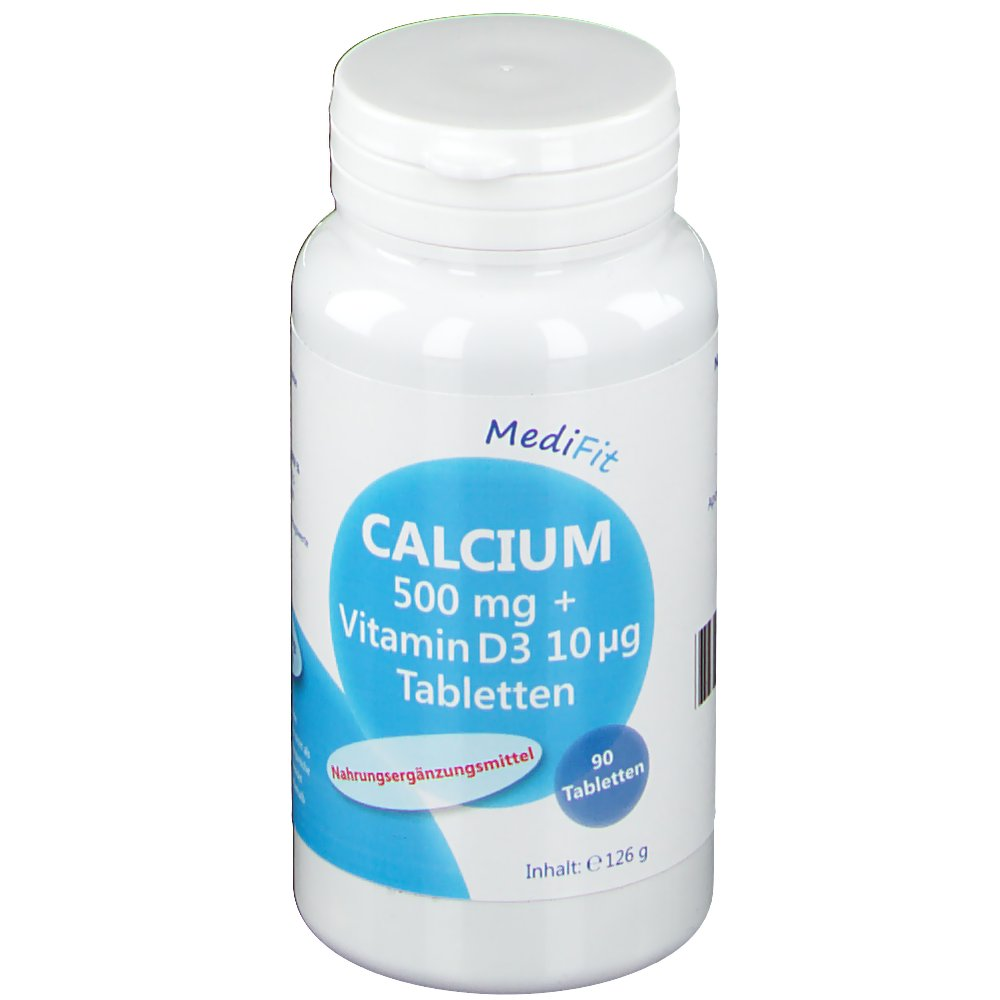 Calcium Tabletten Calcium 500 Mg Vitamin D 10 µg Tabletten Medifit