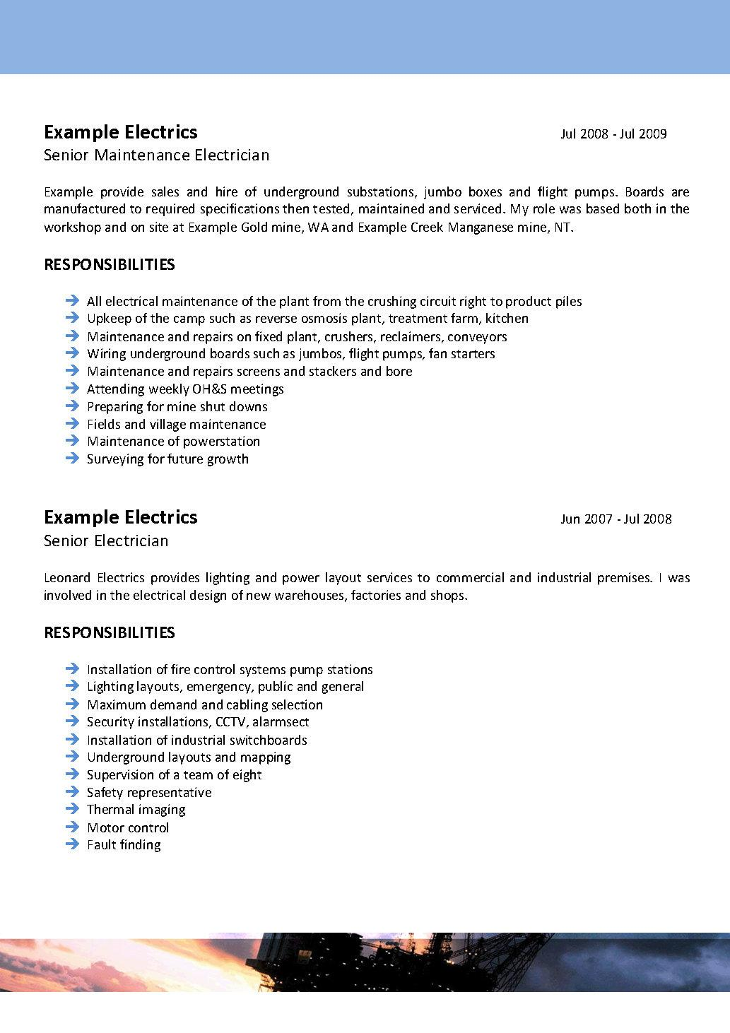 resume for electrician sample view electrician resume httpprofessionaltemplatesaup industrial electrician resume sample