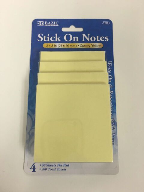 Sticky Notes Plain - USA Discount Store - stickey notes