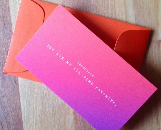 Newsflash ALL TIME FAVORITE Mini Card - Parish Ink - card