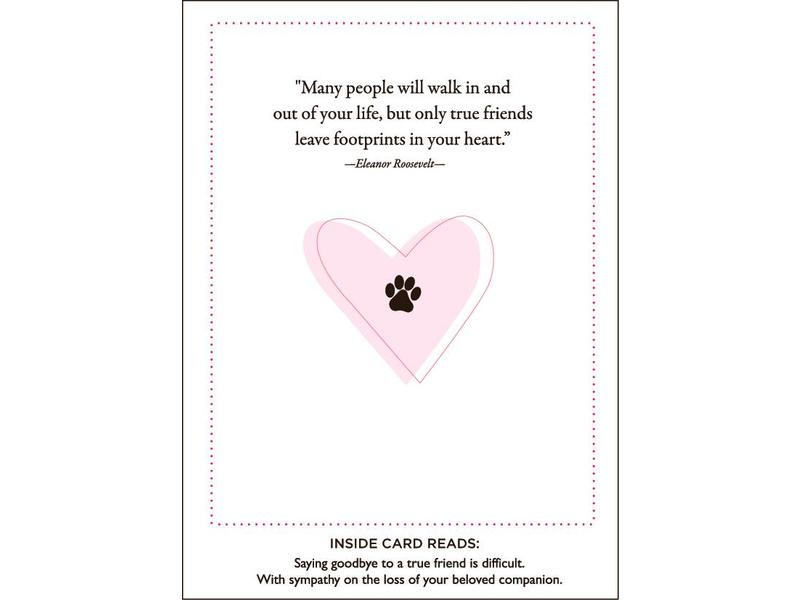 Paws and Love Pet Sympathy Card - Feed Pet Purveyor