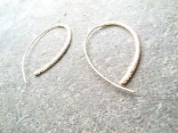 Sterling Sterling or gold open hoop earrings