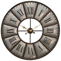 Galvanized Metal Wall Clock - Beckman's