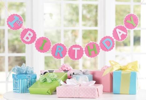MUD PIE FIRST BIRTHDAY BANNER - BellaBoo - first birthday banner