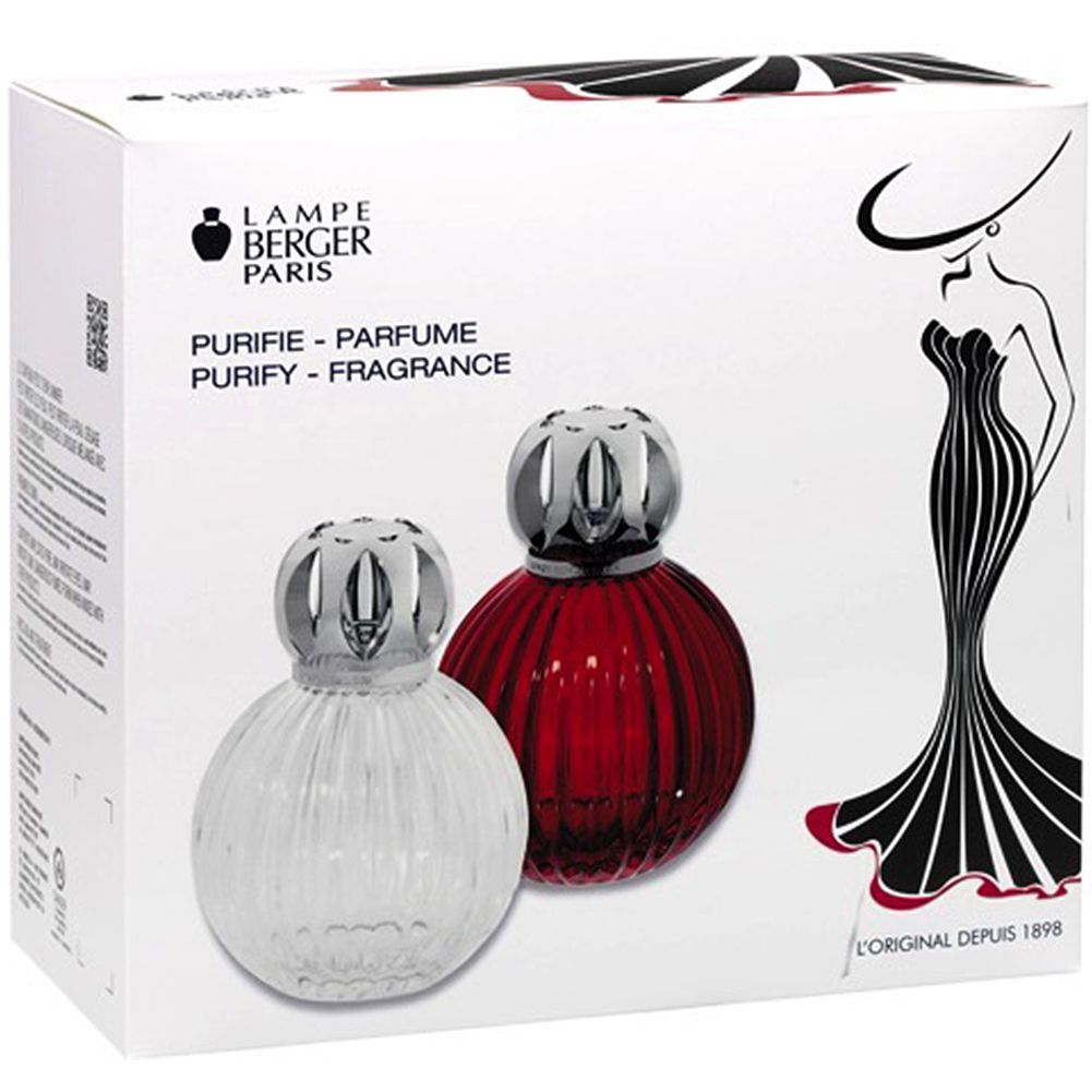 Lampe Ball Lampe Berger Fragrance Lamp 114440 Plissee Gift Set Red