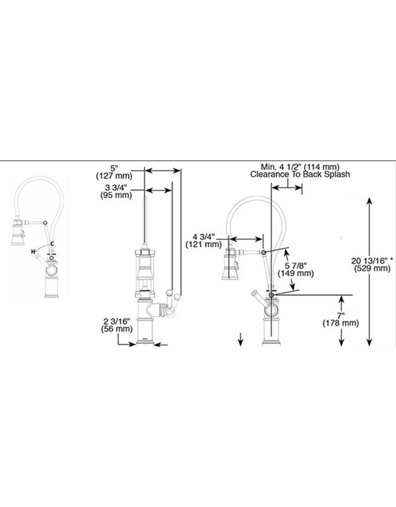 brizo lf artesso single handle articula articulating kitchen faucet Brizo Brizo LF ARTESSO Single Handle Articulating Kitchen Faucet