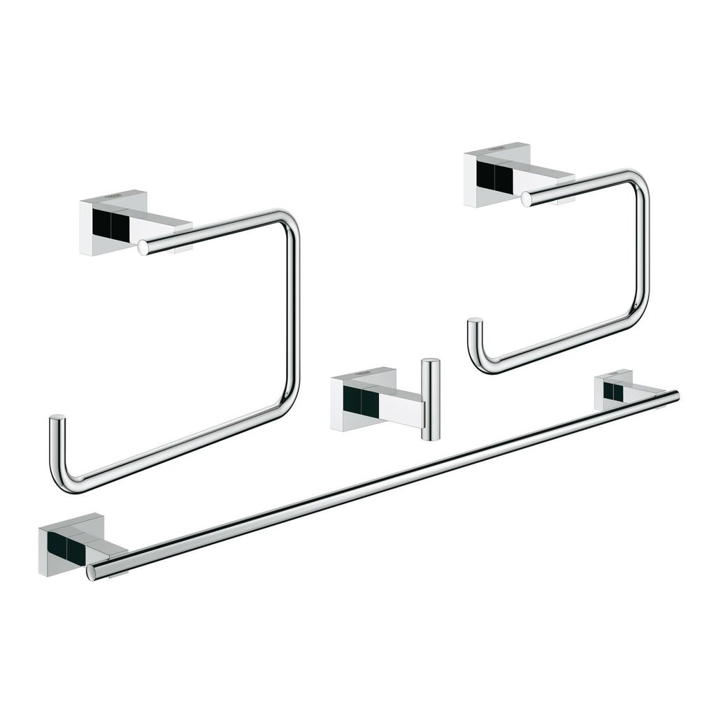 Grohe Badkamer Accessoires Set Grohe 40778001 Essentials Cube Master Bathroom Accessories
