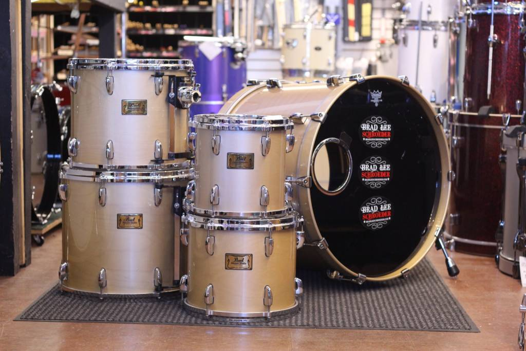 Used Pearl Masters Studio Birch Shell Pack Rupps Drums