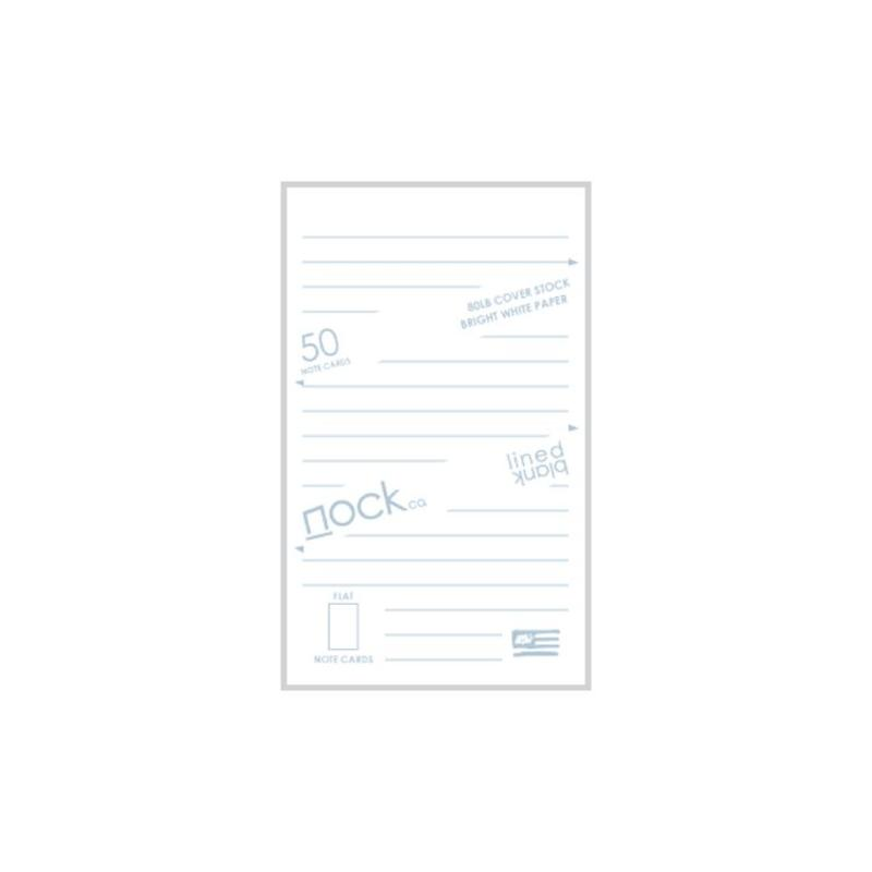 NOCK LINED AND BLANK STANDARD NOTE CARDS DUSTY BLUE/PINK