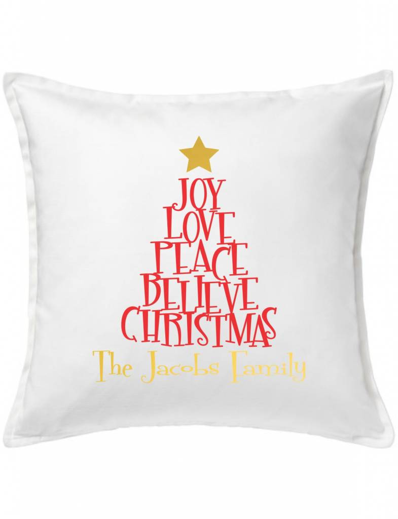 Custom Pillow 91 Christmas Tree Of Words Heads Up Boutique
