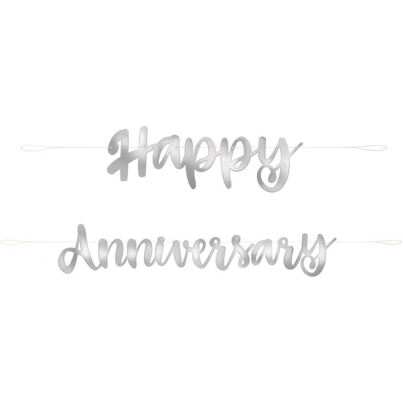 Banner - Happy Anniversary - Victoria Party Store
