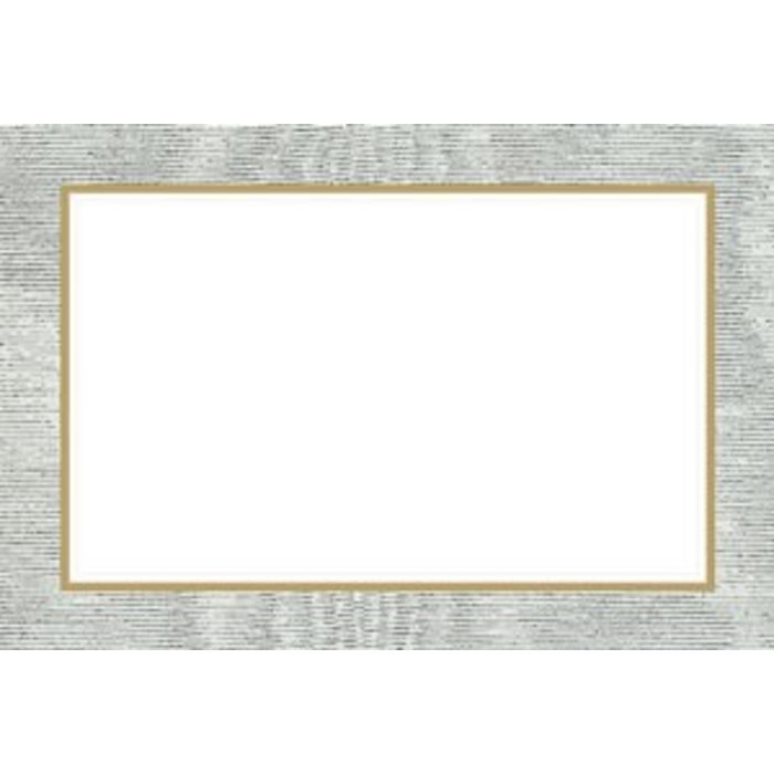 MOIRE SILVER PLACECARDS 10 IN PACKET - Gumdrop Lane Inc