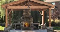 Outdoor Fireplaces - Modern Backyard