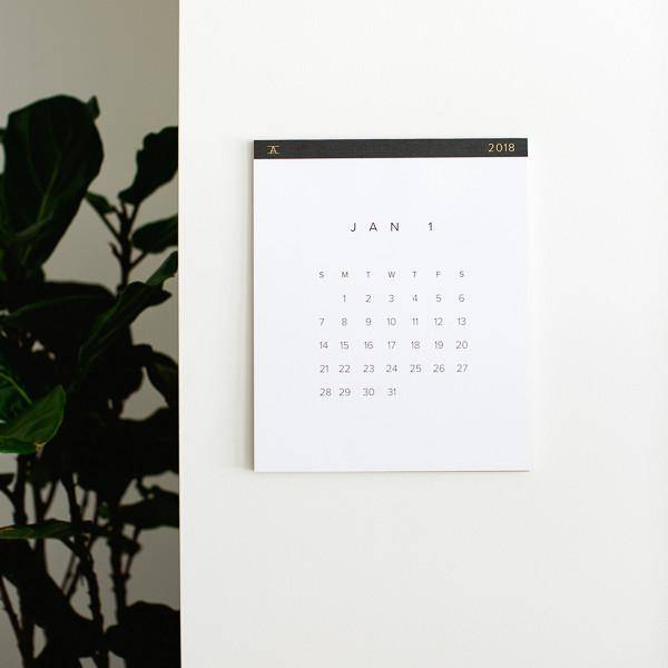 Appointed Paper 2018 Wall Calendar - Charcoal Gray - Springfield