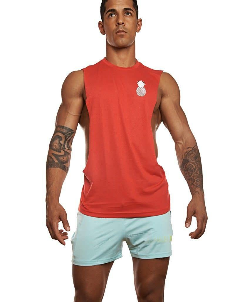 Muscle Shirt Jj Malibu Jj Malibu Deep Cut Muscle Tank Red