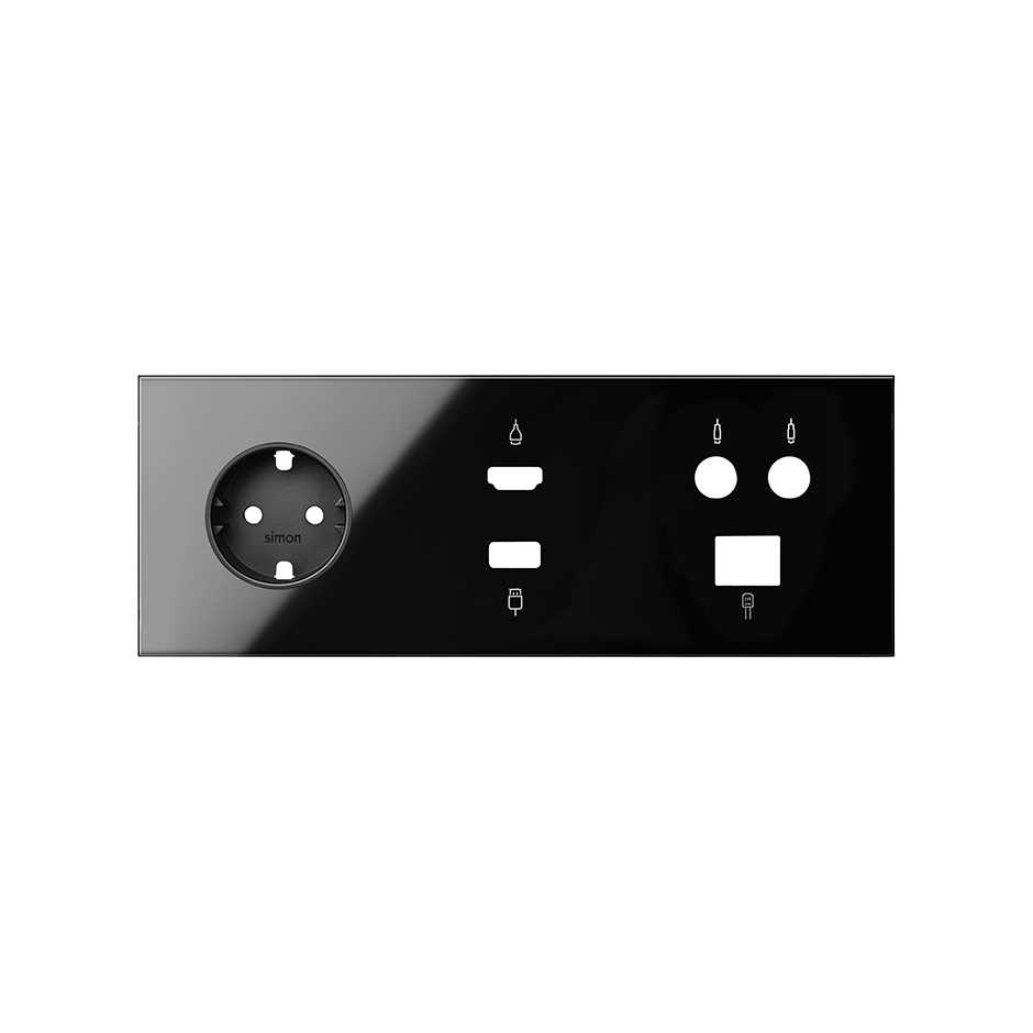 Hdmi Outlet Front Kit For 3 Elements With 1 German Socket Outlet 1 Hdmi Usb