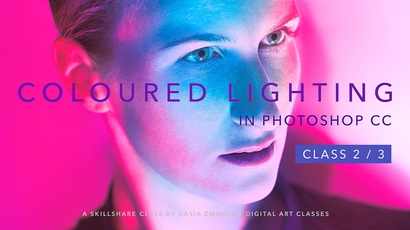 Photoshop Classes 2 3 Add Drama To Your Photos With Coloured Lighting In Photoshop