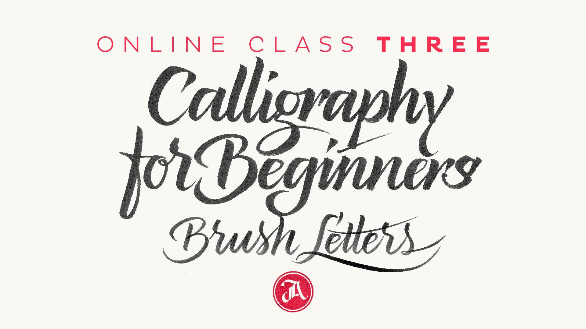 Calligraphy For Beginners Online Calligraphy For Beginners 3 The Brush Pen Letters Jackson