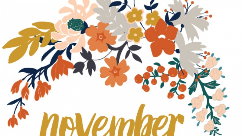 Floral calendar for October and November Skillshare Projects