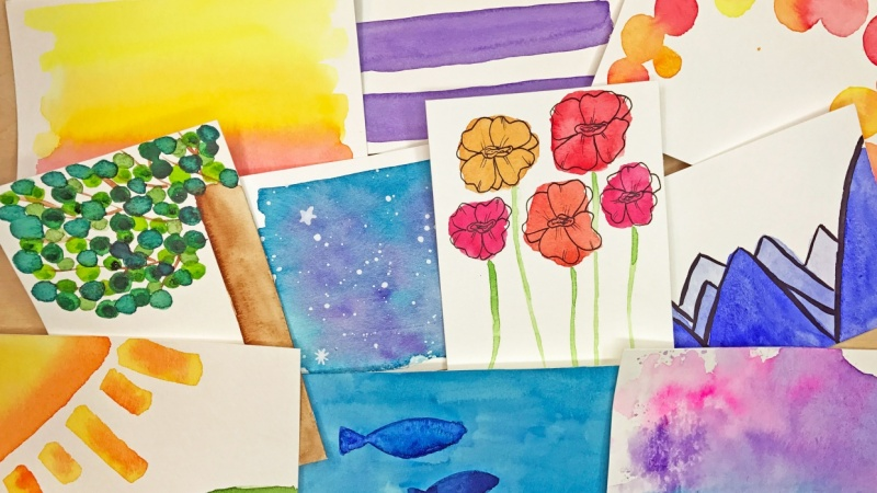 10 Easy Watercolor Backgrounds for Brush Lettering and Modern