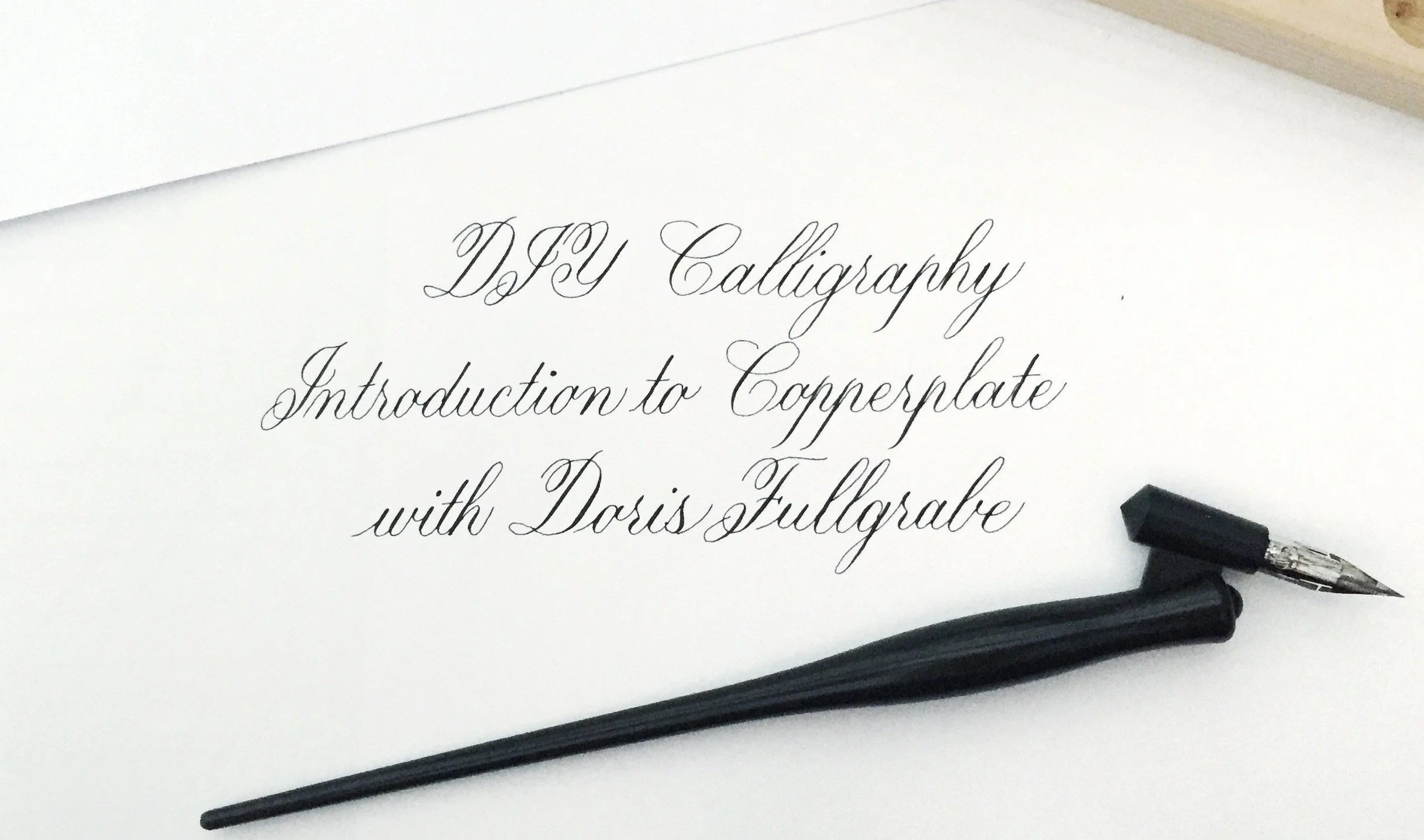 Copperplate Calligraphy Font Free Diy Calligraphy Introduction To The Copperplate Style Doris