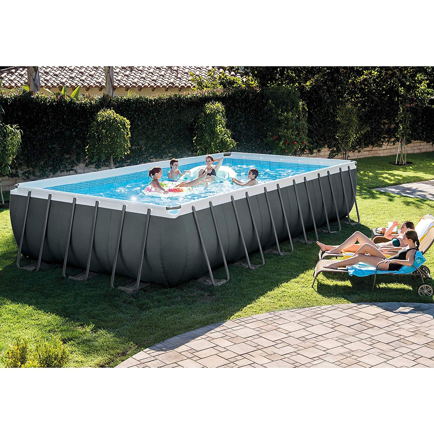 Jacuzzi Pool Covers Intex 24ft X 12ft X 52in Ultra Xtr Rectangular Pool Set With Sand