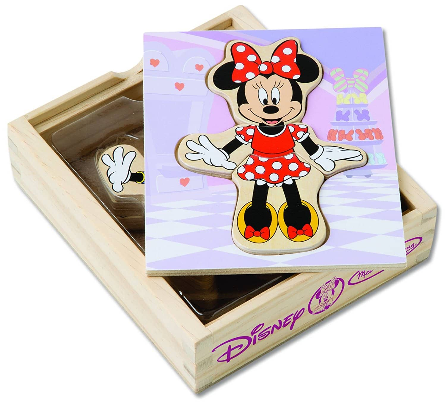 Mix And Match Melissa Doug Disney Minnie Mouse Mix And Match Dress Up Wooden