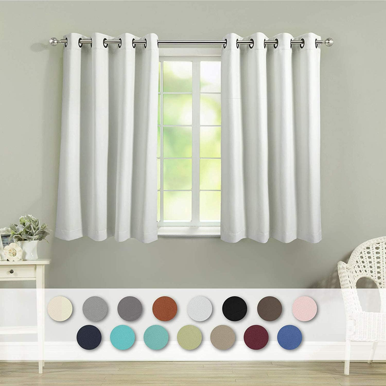 45 Inch Blackout Curtains Veeyoo Thermal Insulated Blackout Curtains 2 Panels 52