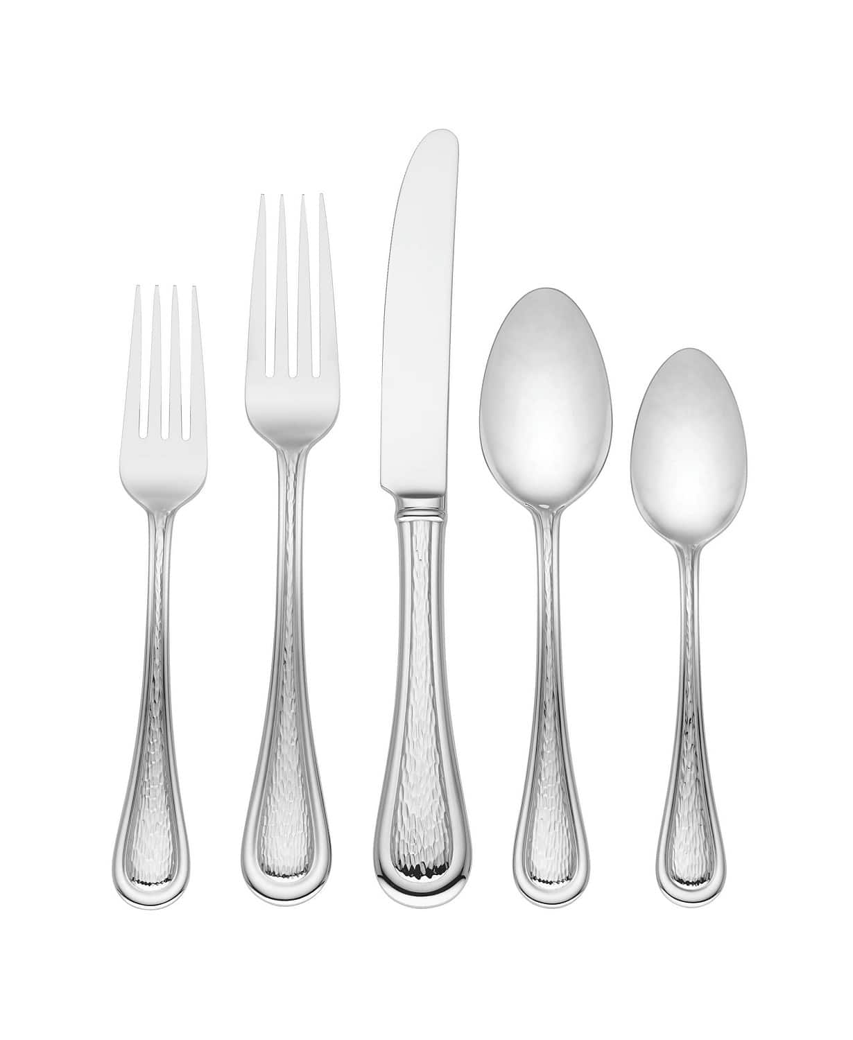 Discount Stainless Flatware 104 Pc Lenox 18 10 Stainless Steel Flatware Set Service For 12