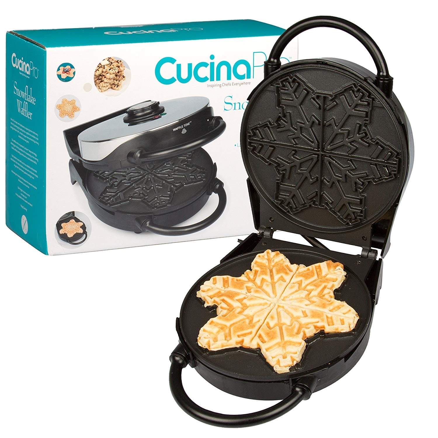 Amazon Cucinapro Cucinapro Non Stick Snowflake Waffle Maker With Adjustable